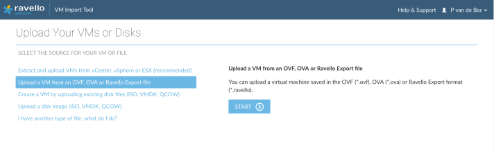 Grab Ravello Import Wizard - VM from OVA