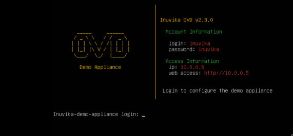 OVD - Demo Console after start