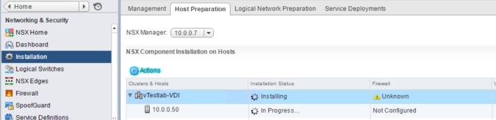 NSX - Prepare Host