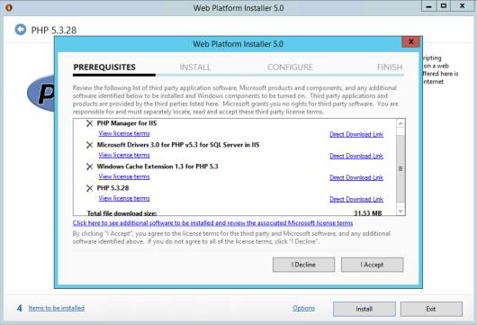 PHP IIS Installation